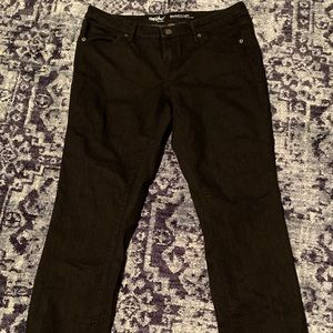Black Mossimo Mid-Rise straight jeans